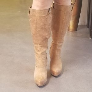 Vera Wang Distressed Leather Boots